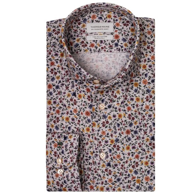 ID8261-Thomas Maine Shirt Floral Flannel