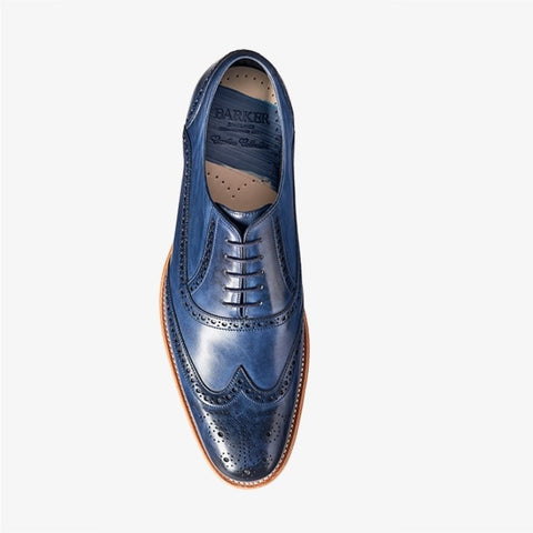 Barker Valiant Navy Shoe