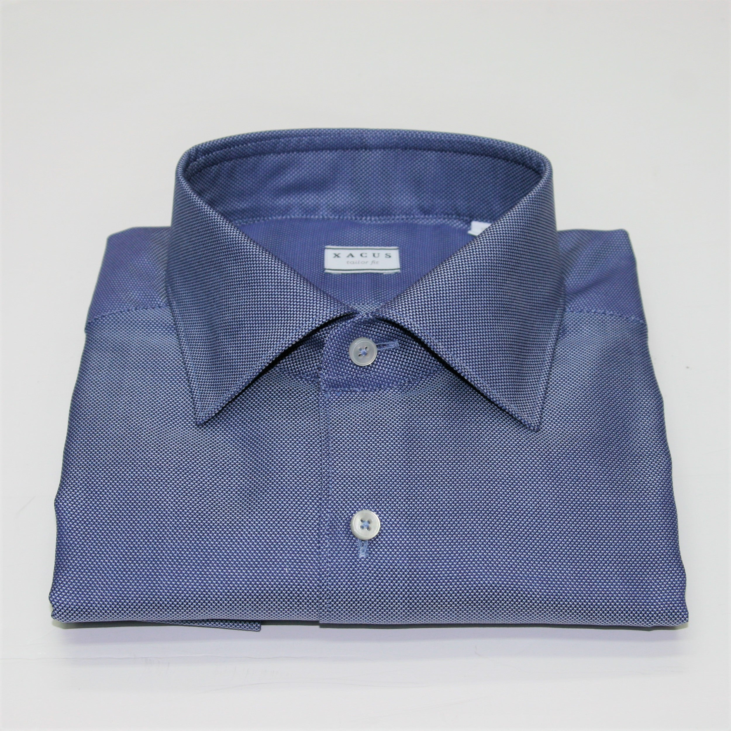 Xacus Blue Textured Shirt