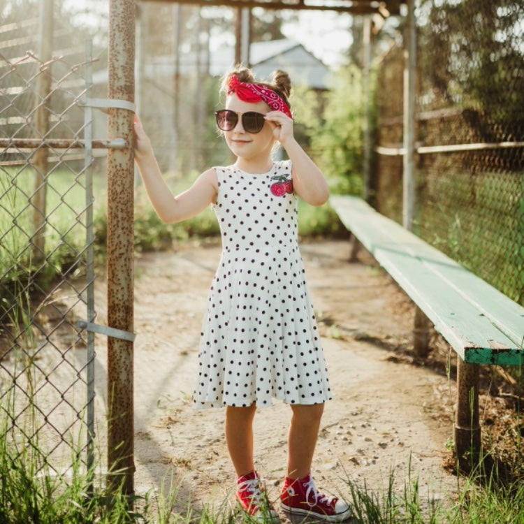 Girls Polkadot Twirl Dress