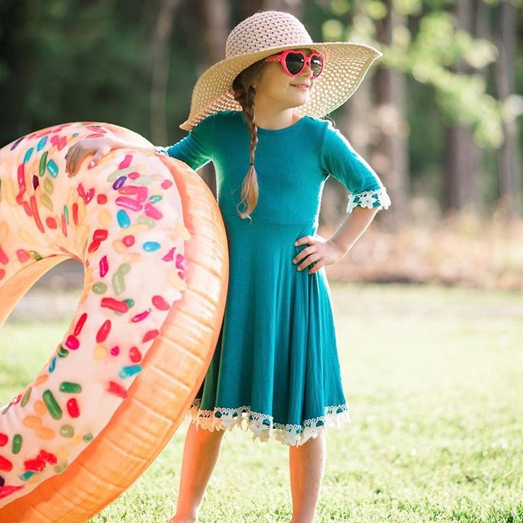 Teal Dress Girl | Liberty Lark