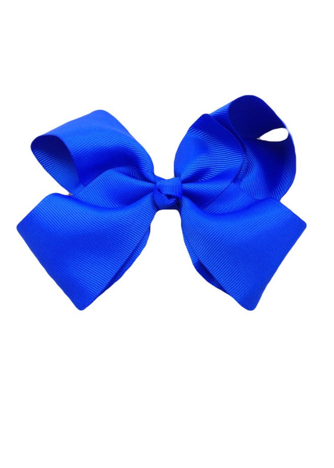 Cobalt Grossgrain Hair Bow