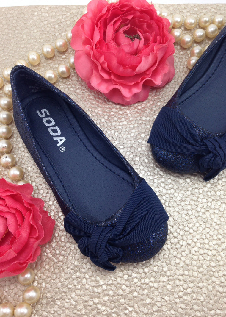 Girls Navy Blue Shoes
