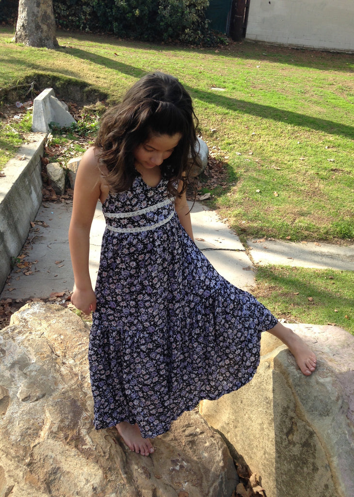 Girls Daisy Halter Maxi Dress