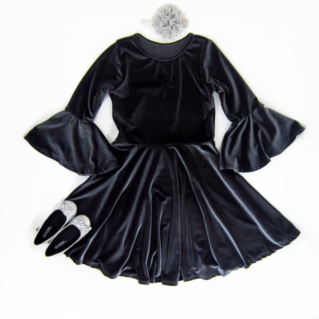 Girls Bell Sleeve Dress