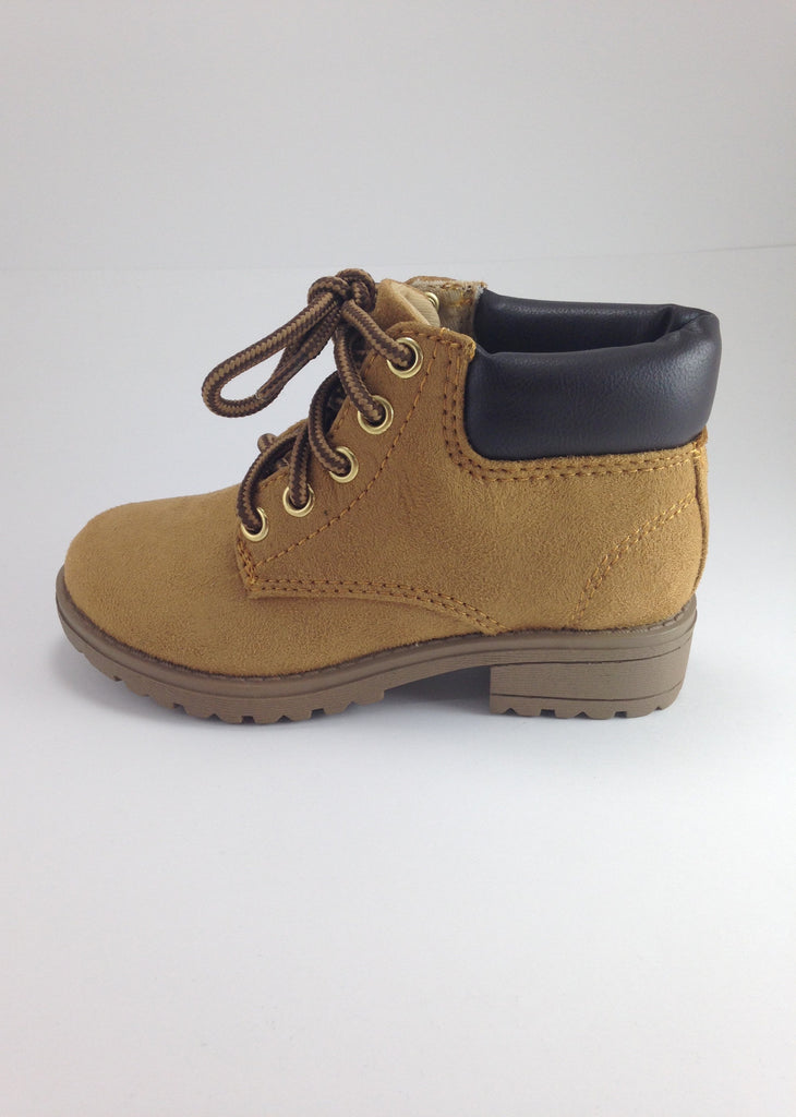 Girls Tan Stylish Work Boots