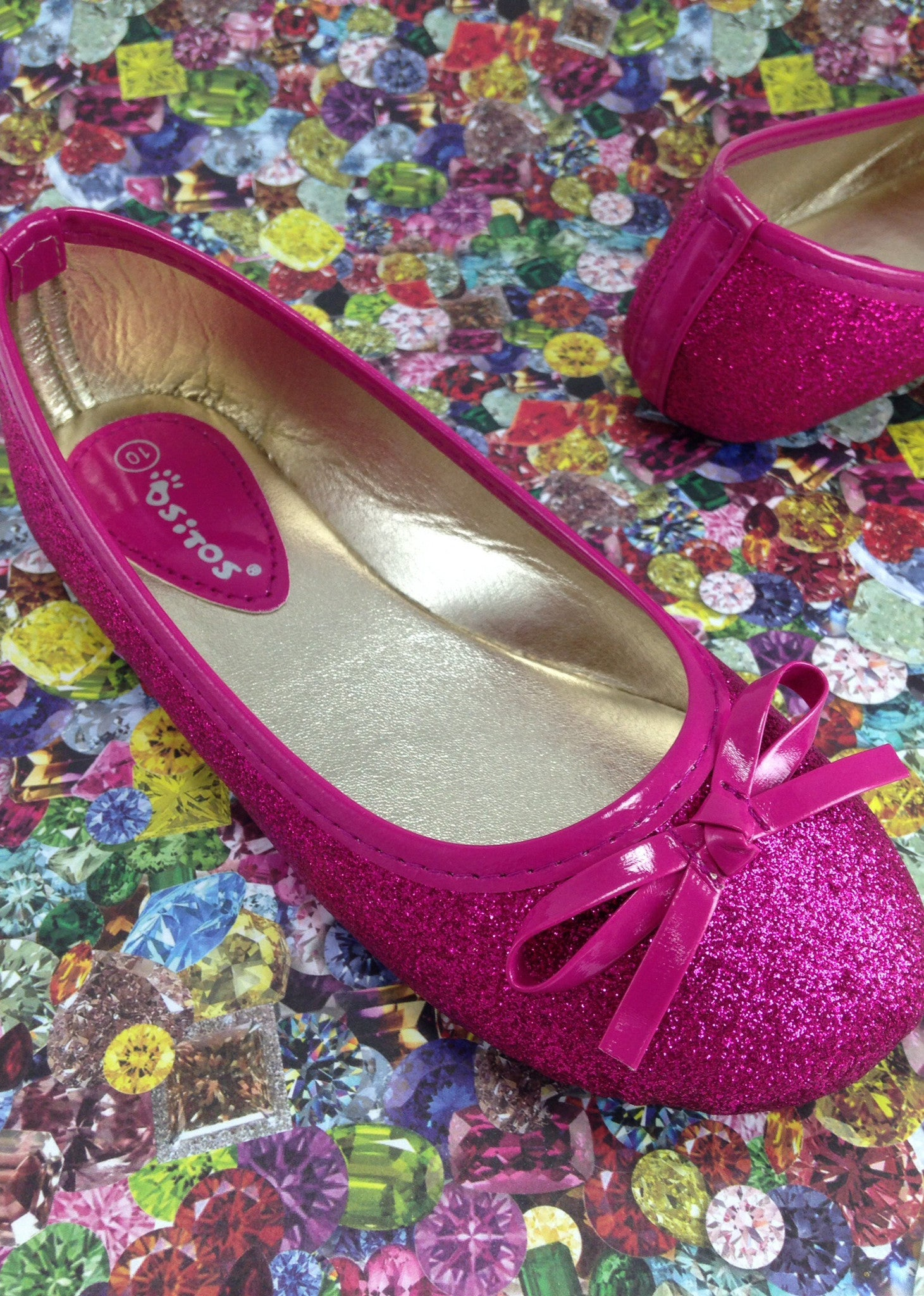f2bcee63ce64 Girls Pink Glitter Shoes ...