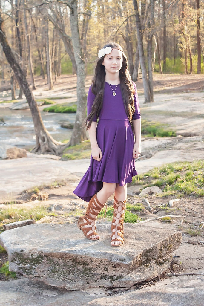 Girls Purple Twirly Dress