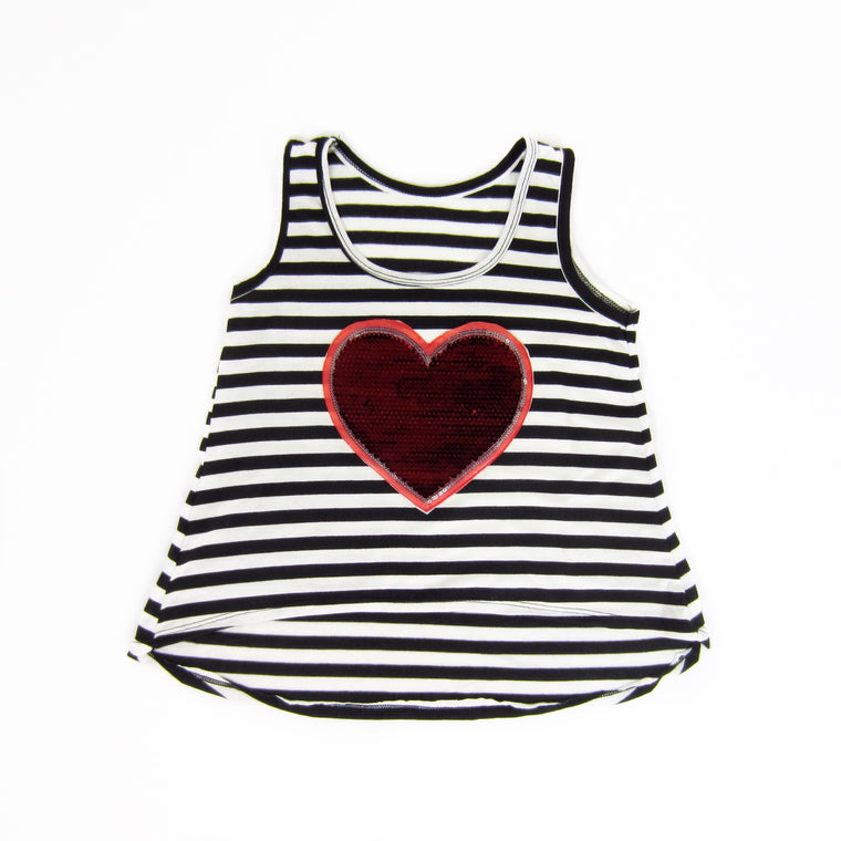 Girls Red Heart Top
