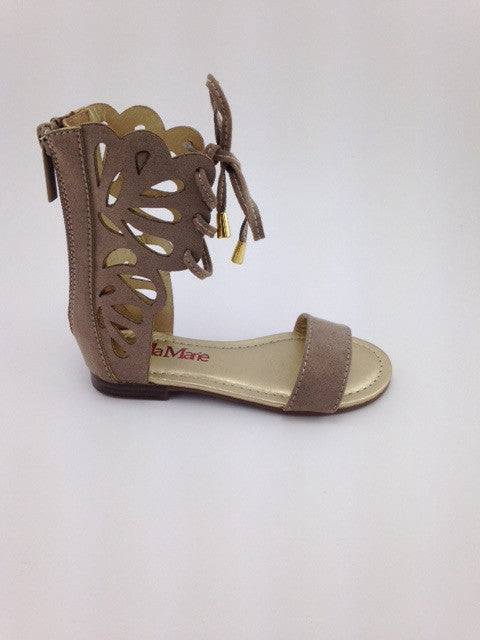 Girls Taupe Boho Sandals