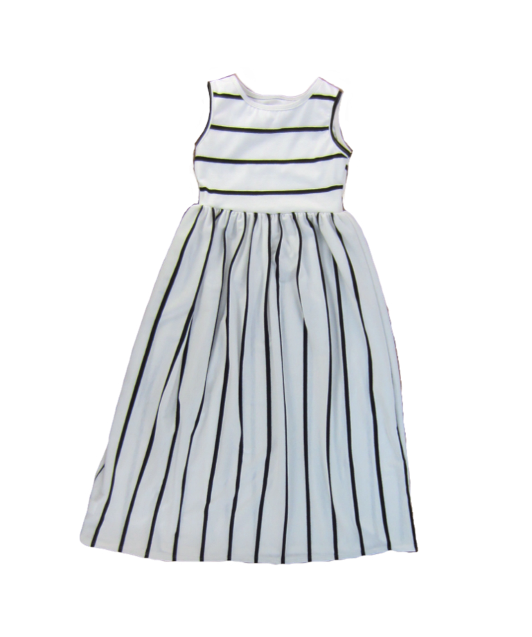 Girls Striped Maxi Dress
