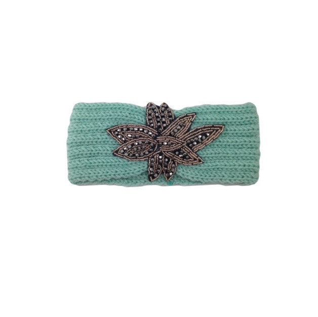 Mint Embellished Knit Headband