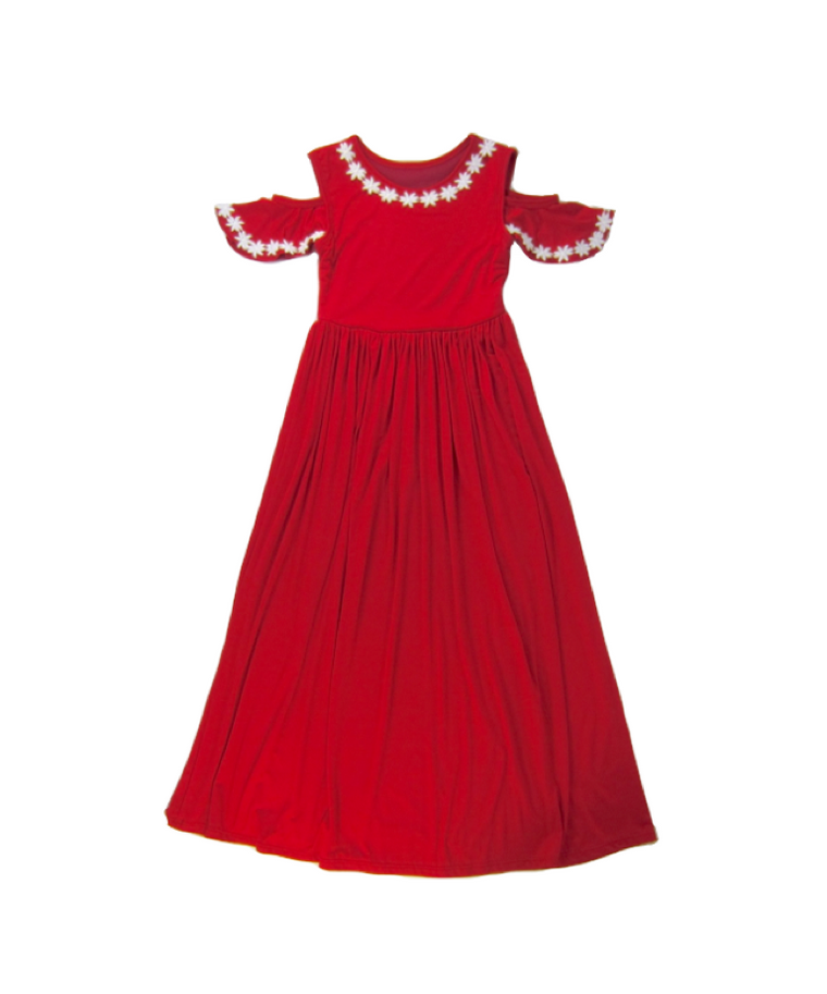 Girls Red Maxi Dress