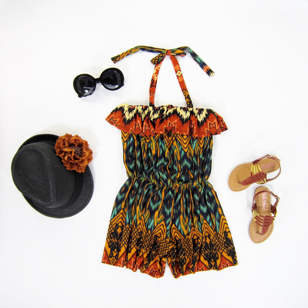 Girls Tribal Romper - Liberty Lark