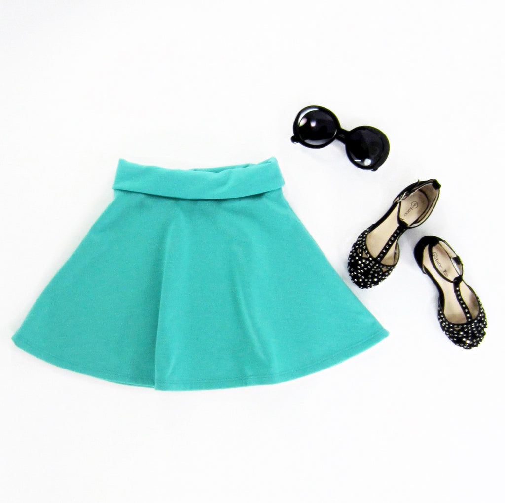 Girls Mint Skater Skirt - Liberty Lark
