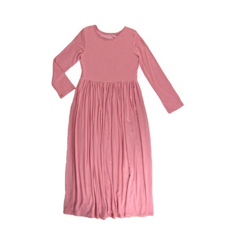 Girls Dusty Rose Maxi Dress