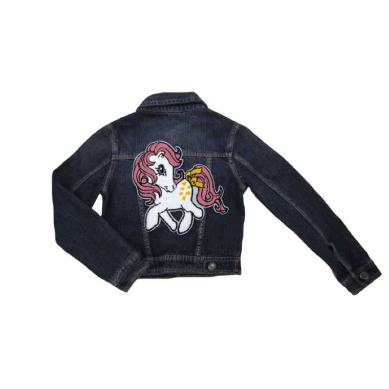 Girls Unicorn Denim Jacket