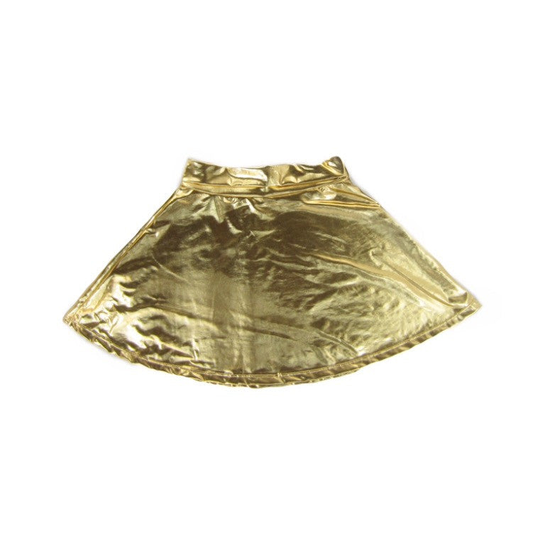 Girls Gold Skater Skirt