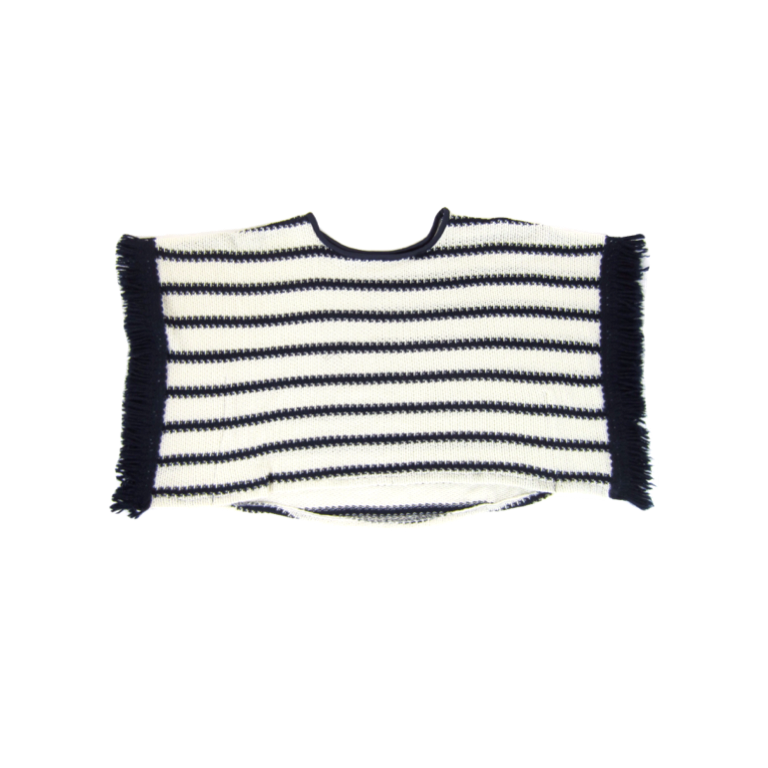 Girls Striped Fringe Top