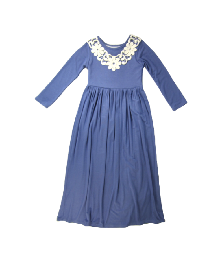 Girls Violet Maxi Dress