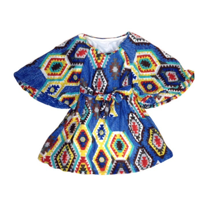 Girls Tribal Boho Kimono Dress