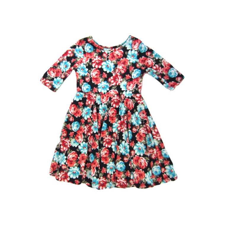 Girls Floral Burst Twirl Dress