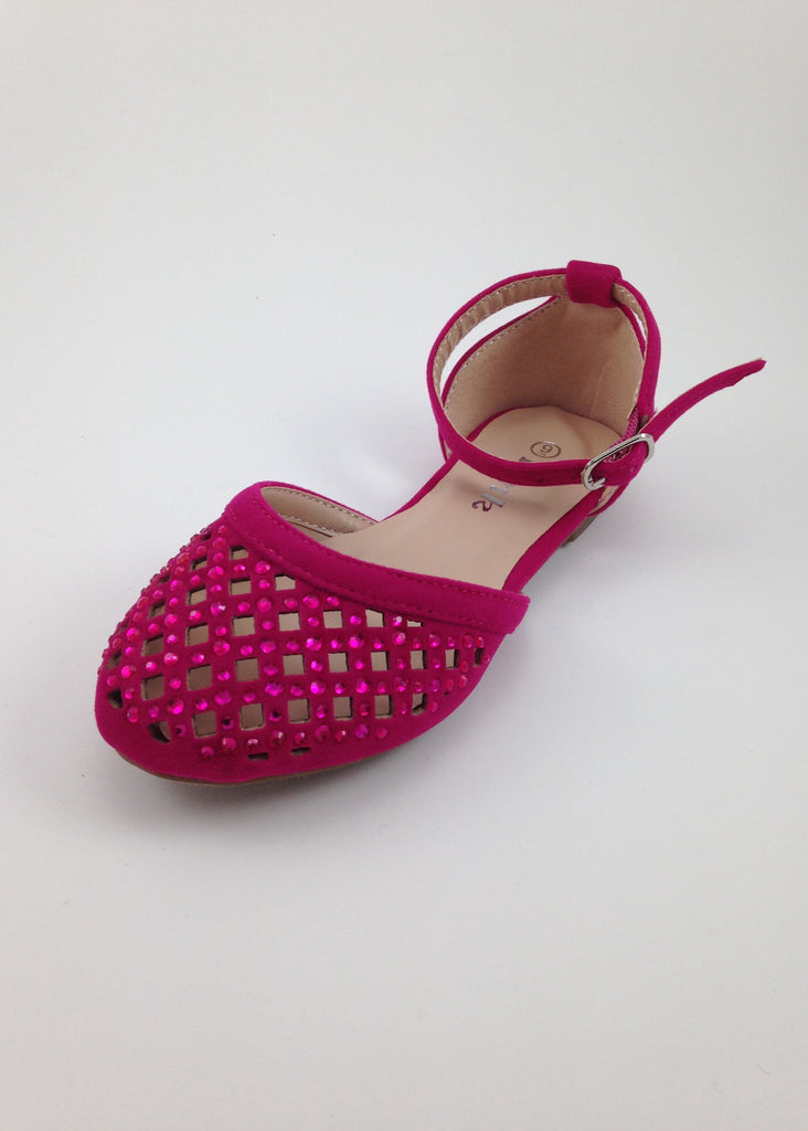 Girls Hot Pink D'Orsay Sandals