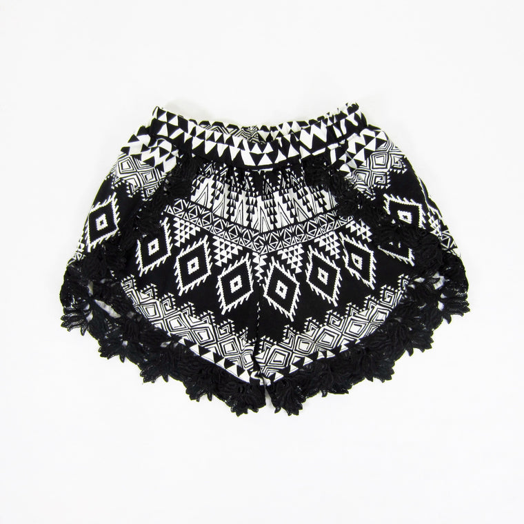 Girls Tribal Print Tulip Shorts - Liberty Lark