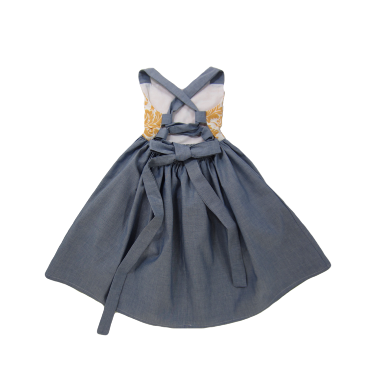 Girls Lace Up Dress | Liberty Lark LLC