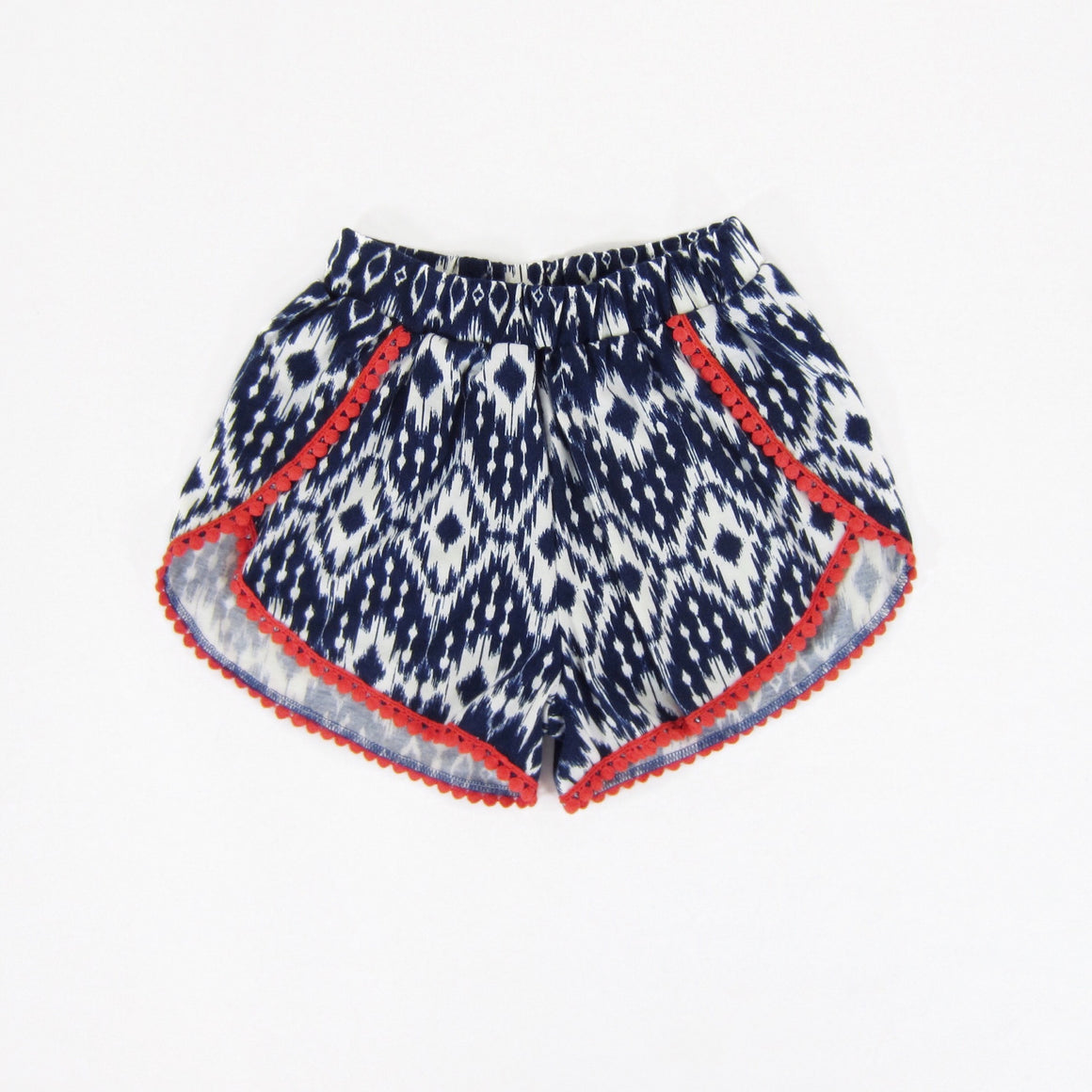 Girls Ikat Lace Trim Shorts