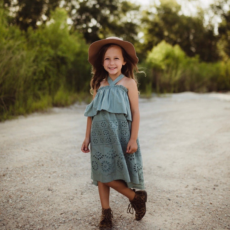 Toddler Girls Sage Halter Dress