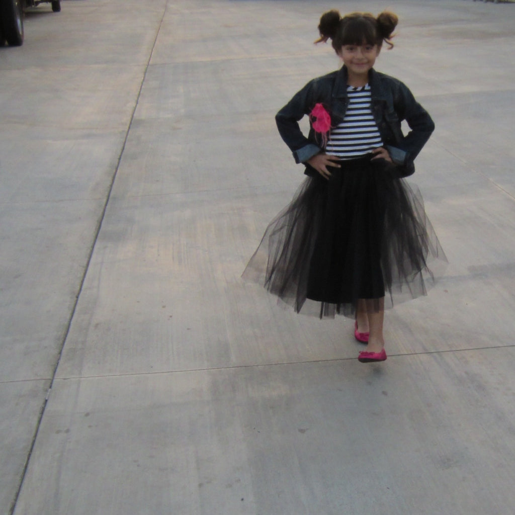 Black Tulle Skirt