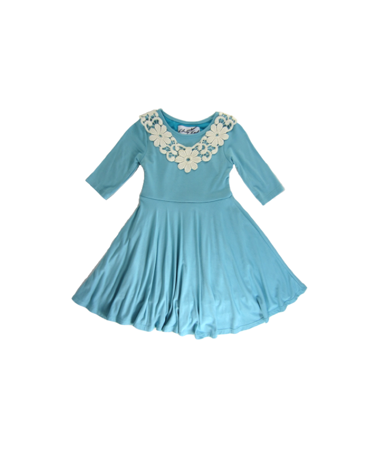 Girls Aqua Sky Twirly Dress