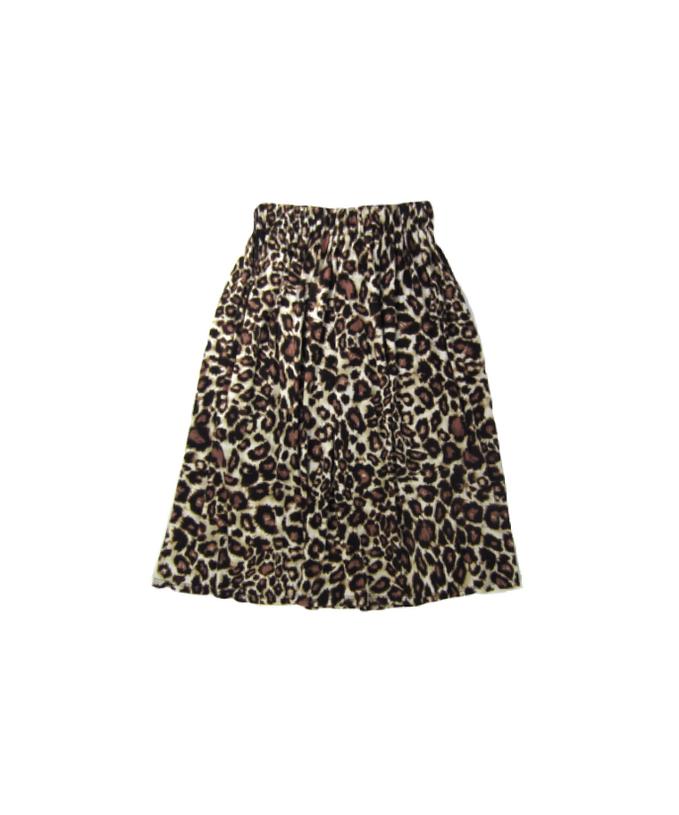 Girls Leopard Maxi Skirt