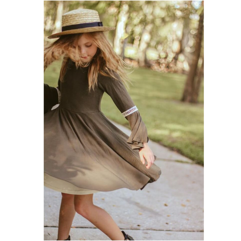 Girls Olive Green Dress