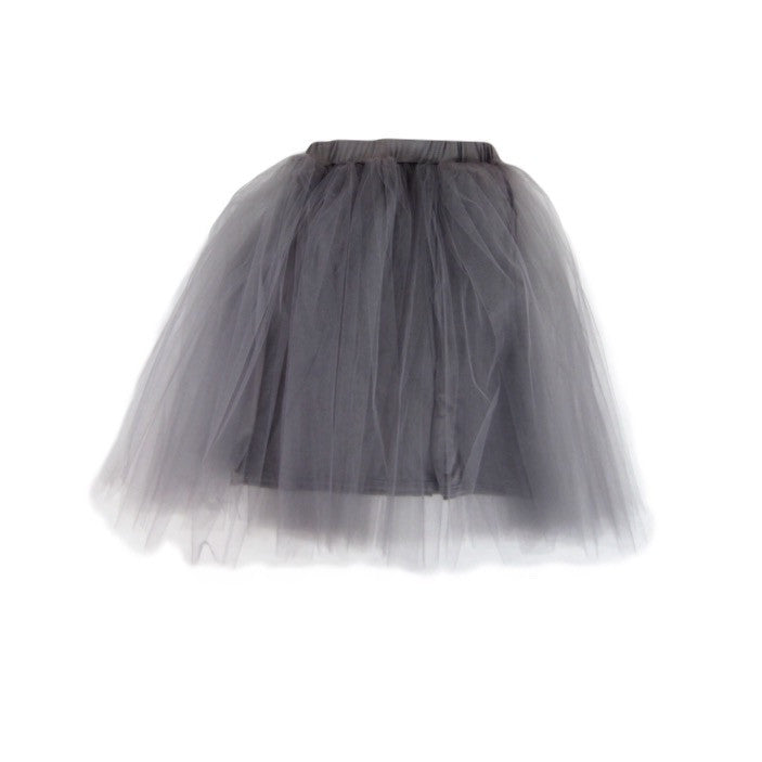 Girls Gray Tulle Skirt - Liberty Lark