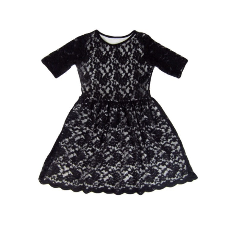 Girls Black Lace Dress