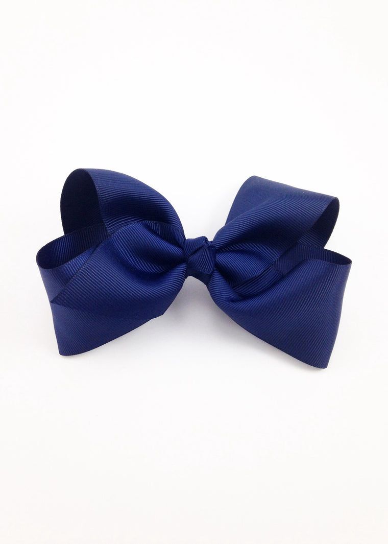 Navy Blue Hairbow
