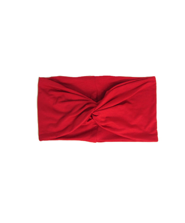 Red Turban Twist Headband