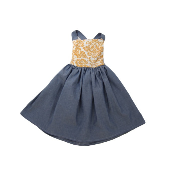 Girls Chambray Dress | Liberty Lark LLC