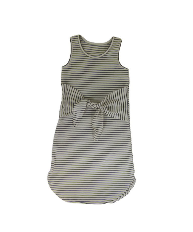 Girls Striped Knot Dress