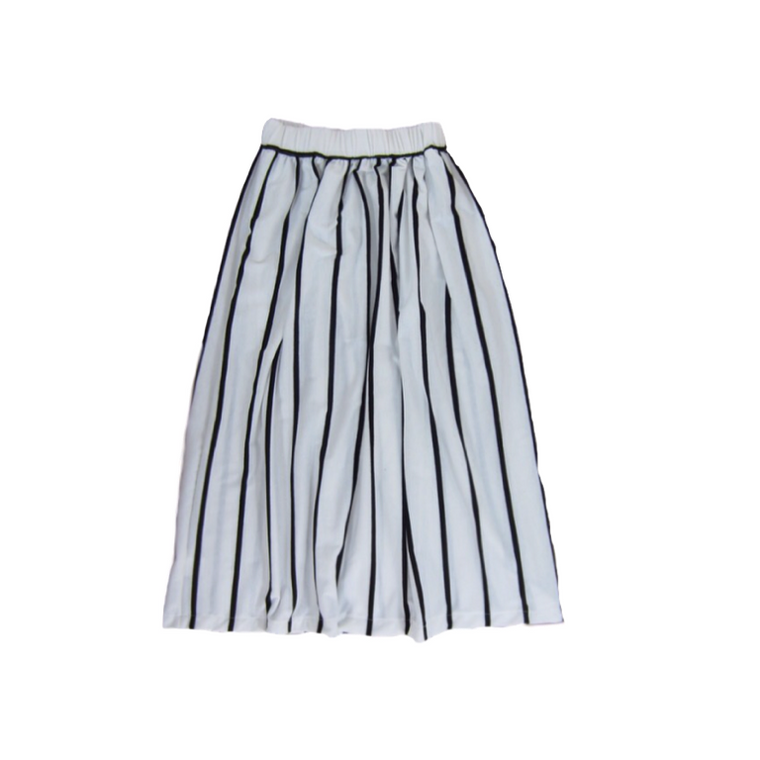 Girls Striped Maxi Skirt