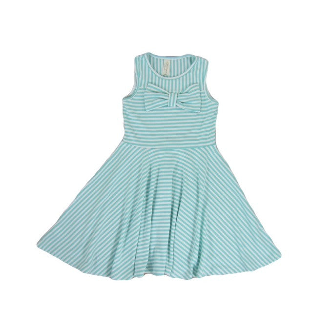 Girls Mint Striped Dress | Liberty Lark