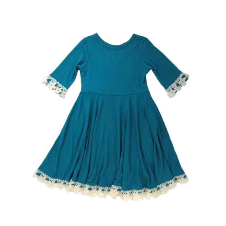 Girls Teal Dress | Liberty Lark LLC