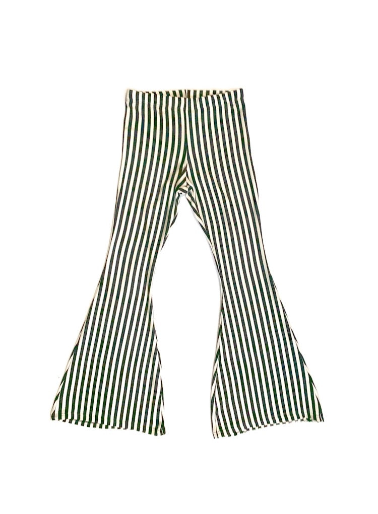 Girls Striped Bell Bottoms - Pants