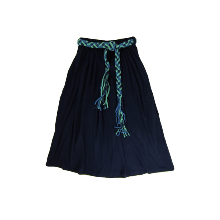 Girls Navy Blue Maxi Skirt