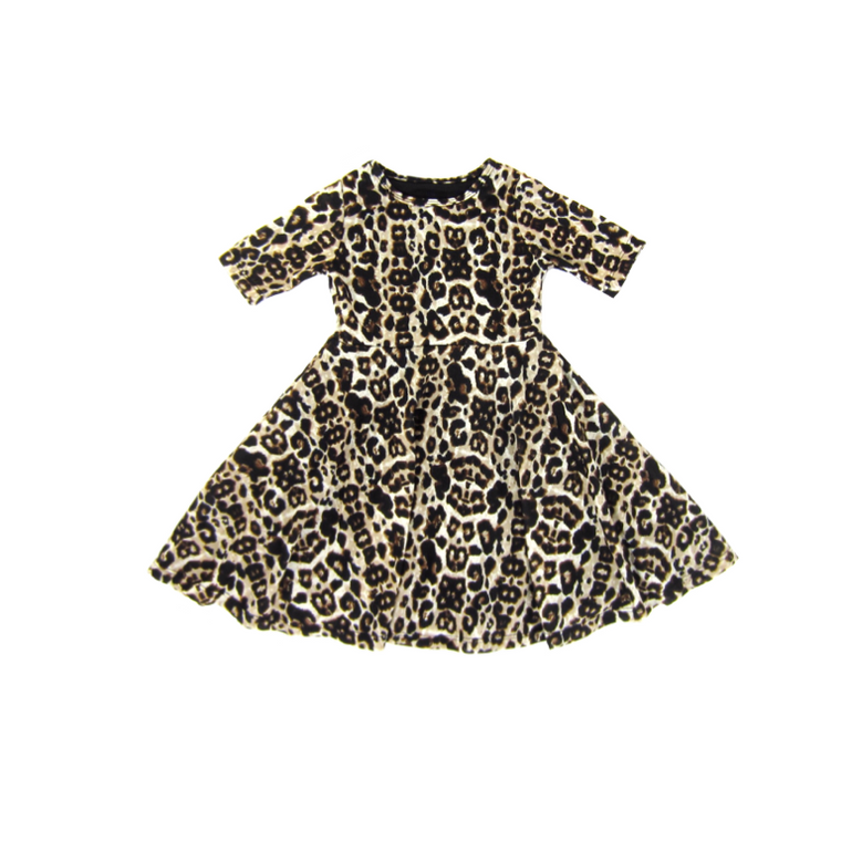 Girls Leopard Twirly Dress