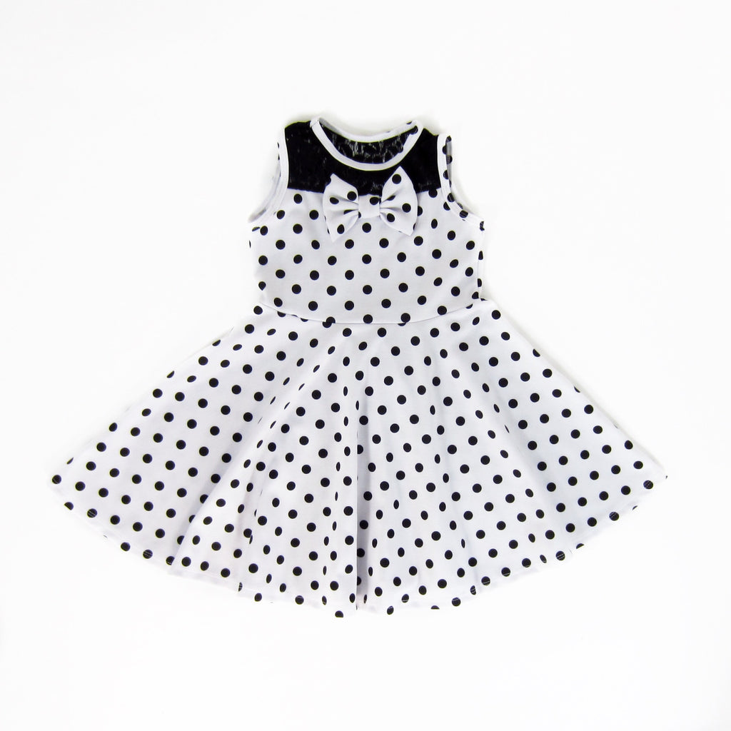 Girls Black Polkadot Dress | Liberty Lark
