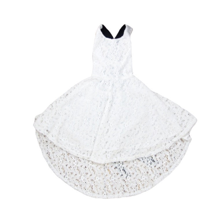 Girls White Lace Dress | Liberty Lark LLC
