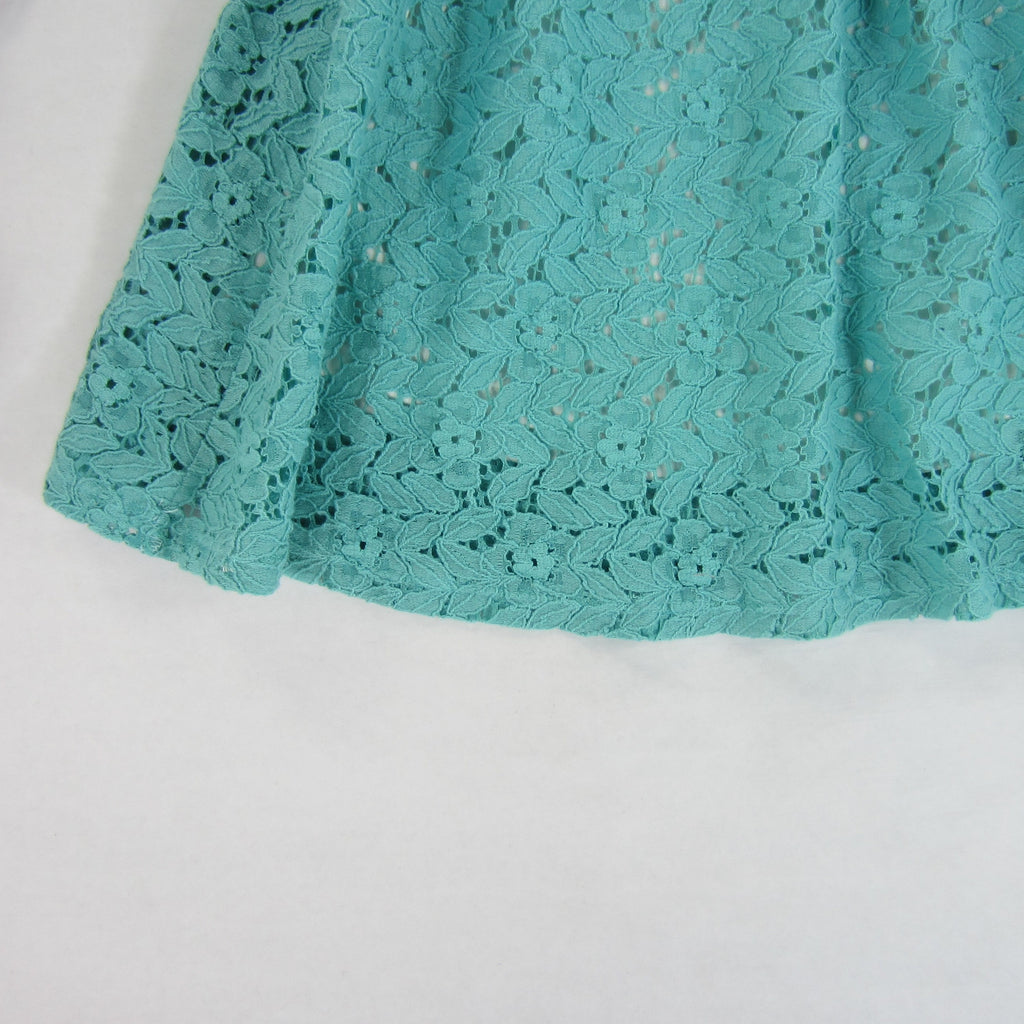 Girls Teal Lace Kimono Dress